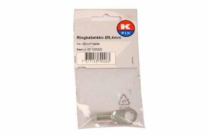 Ringkabelsko 8,4mm, 25mm²
