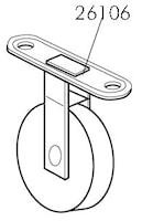 Hjul med fäste Boxlift/Multili