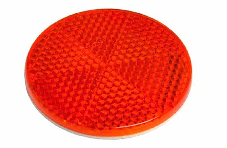 Reflex röd 55mm Ø självhäftand