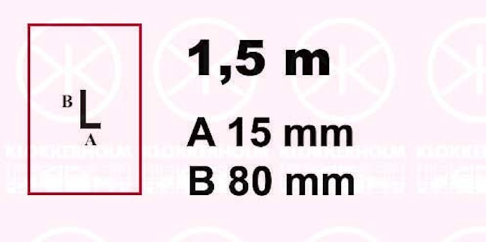 Plåt 15x80x1500x1,25mm