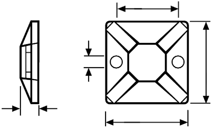 Mont.platta f buntb (1=100st)N