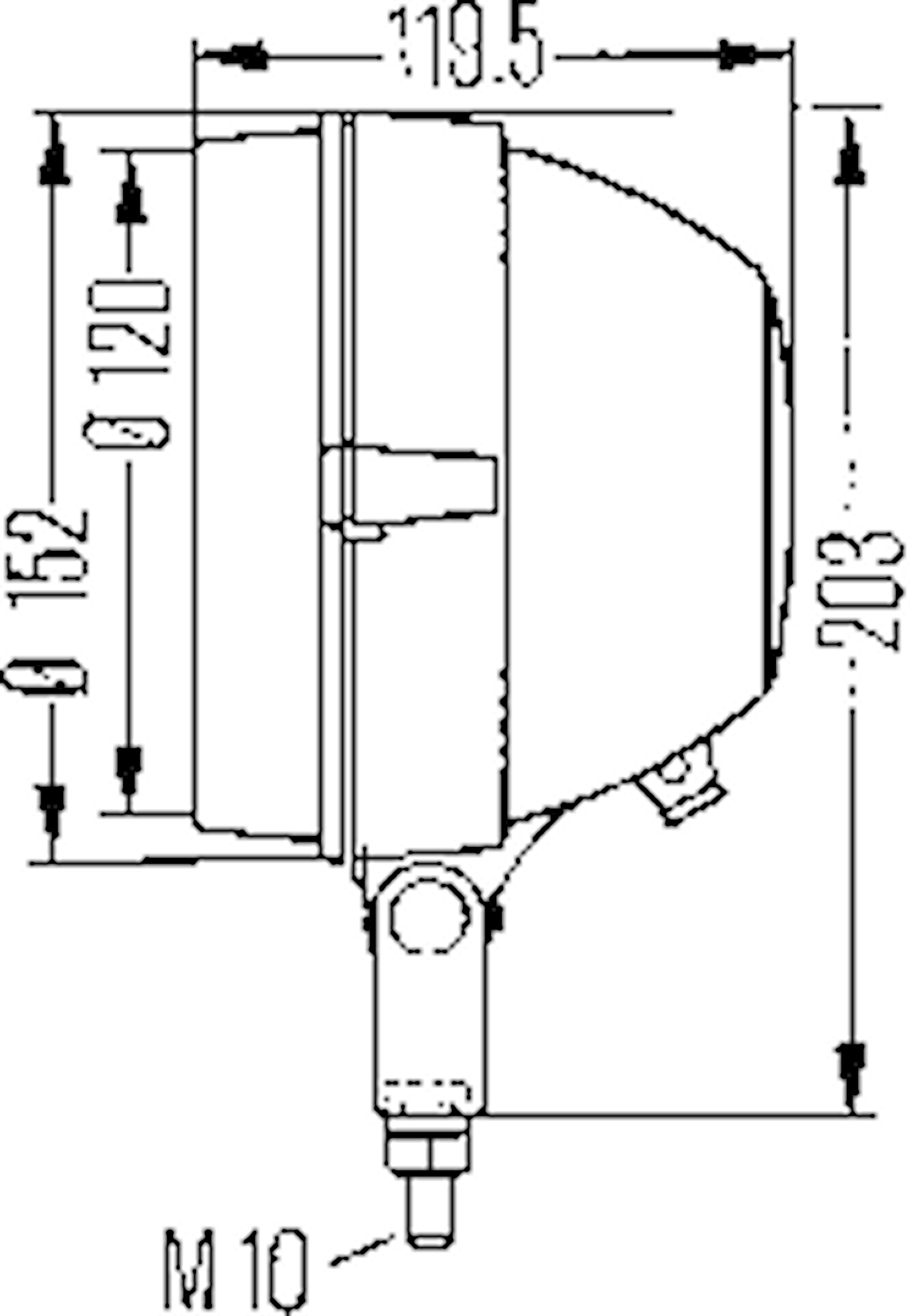 Strålk H4 f påbyggnad 152mm Ø