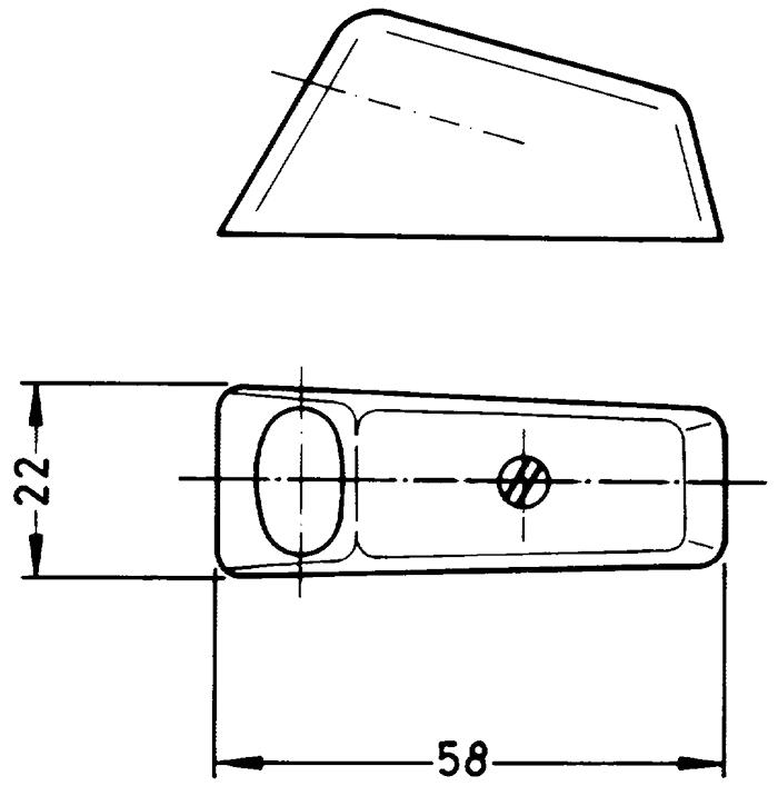 Stickdosa 2-pol f påbyggn skr.
