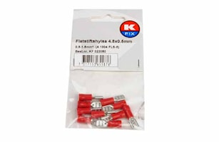 Flatstifthylsa 4,8x0,5mm röd