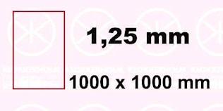 Plåt 1000x1000x1,25mm