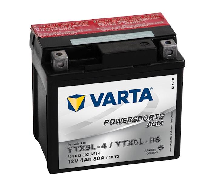 Batteri 4Ah MC YTX AGM