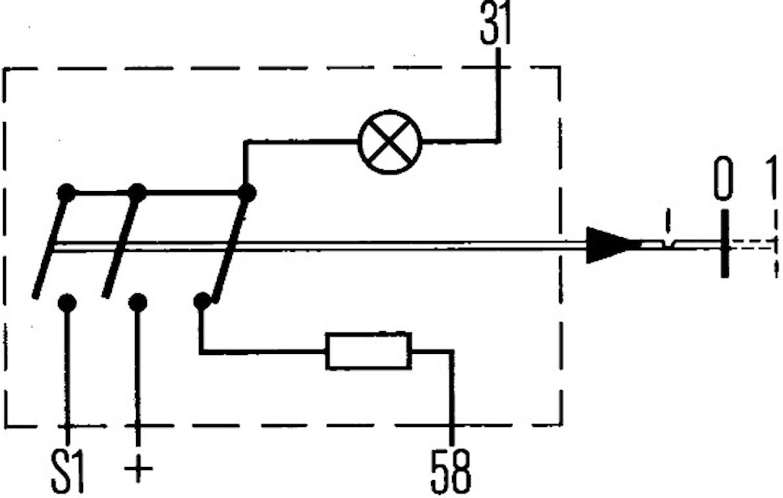 Tryckströmbr 12V m grön kontr