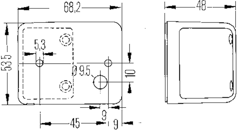 Pos.lykta vit 68x53,5x45mm