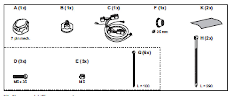 Elkabelsats 7-polig