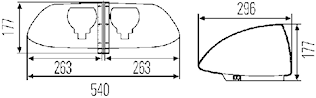 Blixtramp 12V gul OWS-X 1000