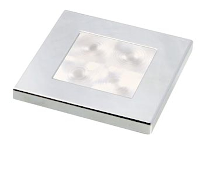 Flushbel 24V LED vit 60x60mm