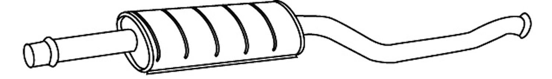 Ljuddämpare mellan