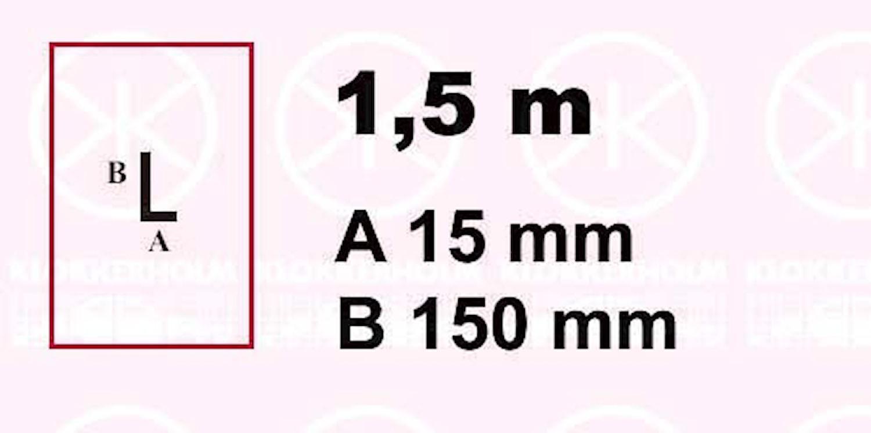 Plåt 15x150x1500x1,25 mm