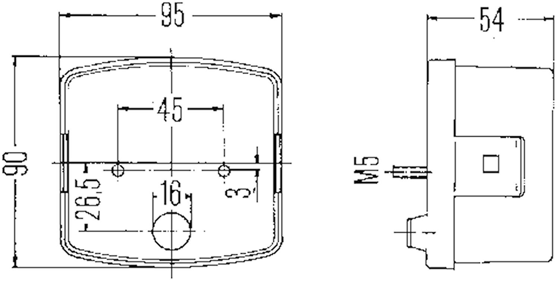 Bak-/broms-/blinkl hö 95x90mm