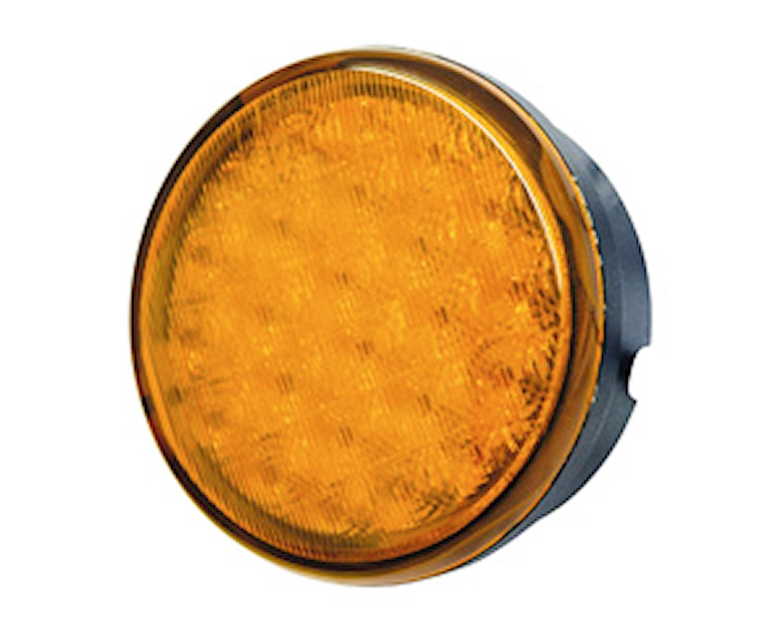 Blixtlykta Pebble LED gul
