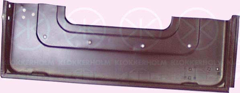 Bottenplåt f bakdörr -81