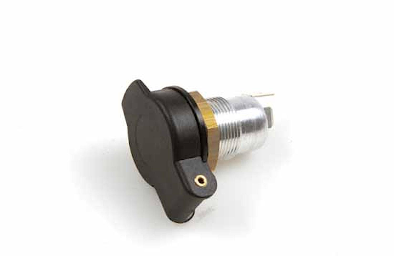 Stickdosa 2-pol m lock flatst.