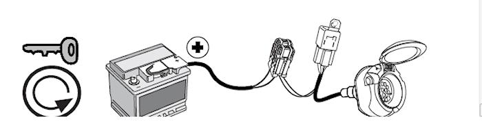 Kabel laddström pin 10