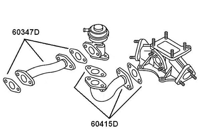 Rörledning EGR-Ventil