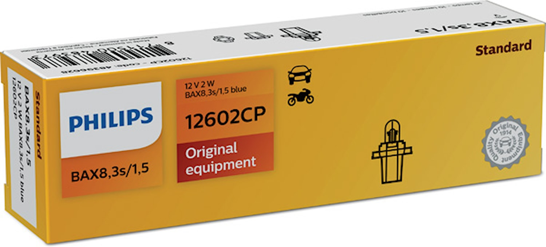 Glödlampa 12V 2W BAX8,3s/1,5