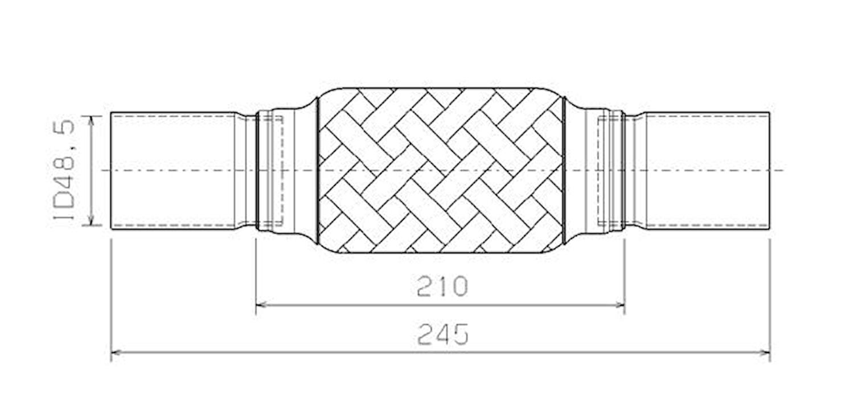 Flexrör 49x68x245