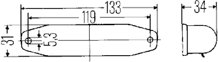 Läslampa 133x31mm sv m strömbr