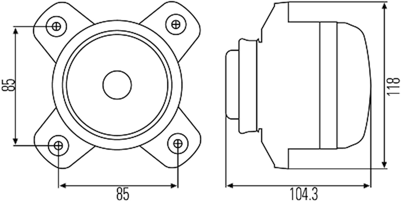 Helljusstrålk 12V FF H7 90 v/h