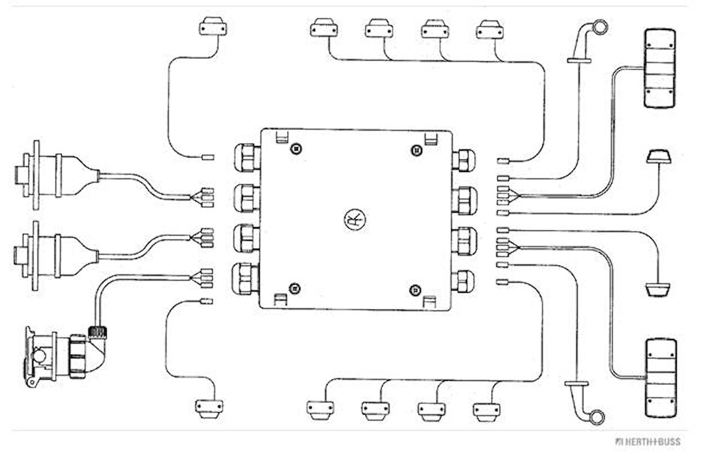 Kabelförbindn.box 16-polig