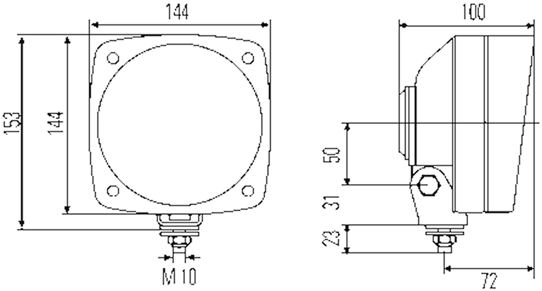 Strålk H4 f påbyggn 144x144mm