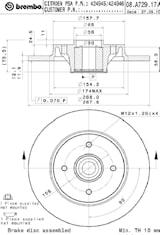 Bromsskiva med hjullager