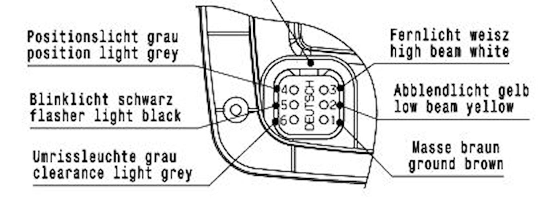 Strålk hö 12V H7/H3 f påbyggn