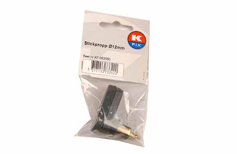 Stickpropp 2-polig vinklad 90°