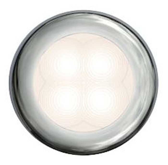Flushbelysn 24V LED vit 75mm Ø