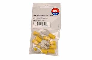 Gaffelkabelsko 6,5mm gul