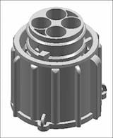 Hylsisolator VKR/DIN 4-polig