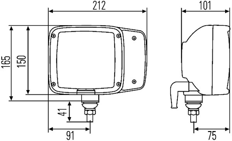 Strålk vä 12V H7/H3 f påbyggn