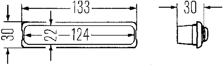 Innerbelysn 133x30mm f inbyggn
