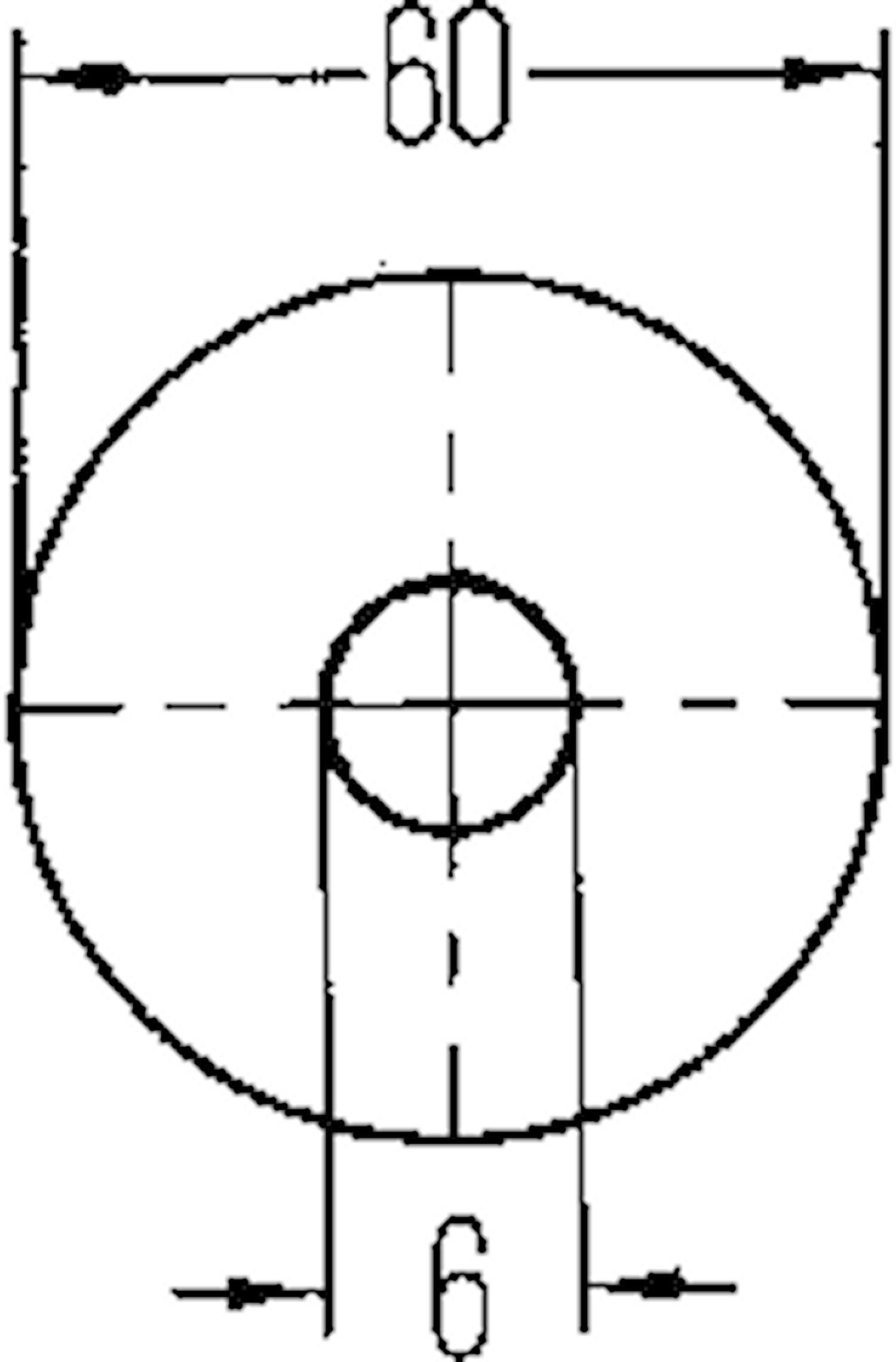 Reflex vit 60mm Ø