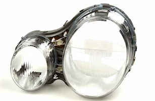 Strålk.glas vä Xenon Merc W210