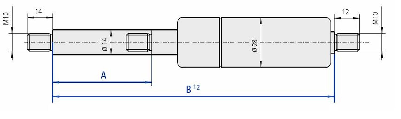 Gasfj. B=470 A=200 1000N M10