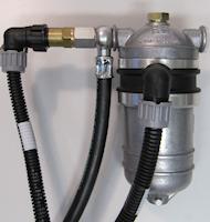 Bränslefilter 24V uppvärmning