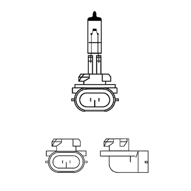 Halogenglödlampa 12V 27W PGJ13