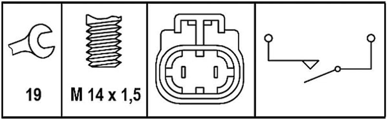 Backljuskontakt med kabel