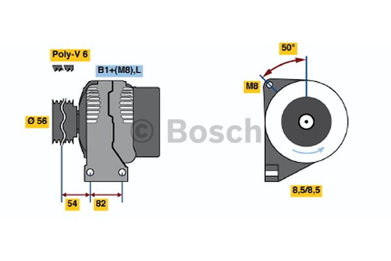 Generator utbytes 14V/160A