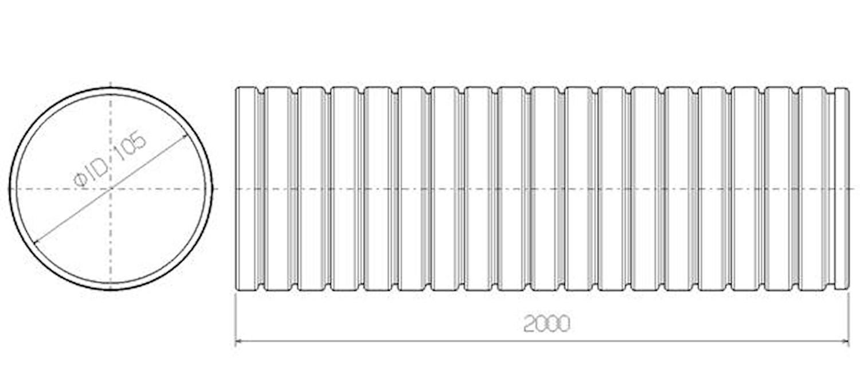 Flexrör 105x2000