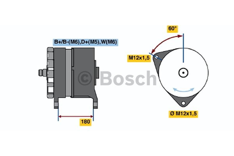 Generator utbytes 28V/140A