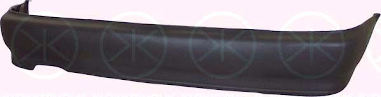 Stötfångare bak svart (sed)