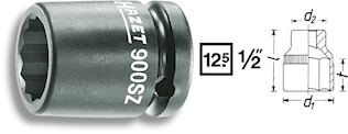 Krafthylsa 12 kant 24mm