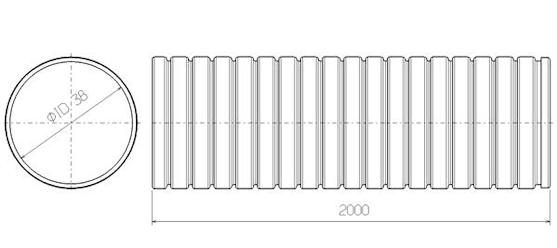 Flexrör 38x2000