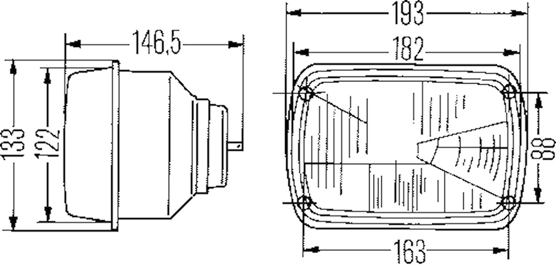 Strålkastare H4 Fiat 127/128